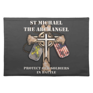 St Michael The Archangel - Protect Our Soldiers Placemats