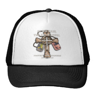 St Michael The Archangel - Protect Our Soldiers Trucker Hat