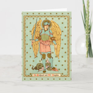Saint michael cards zazzle st michael the archangel rls 12 blank greeting card m4hsunfo