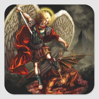 St. Michael the Archangel Square Sticker