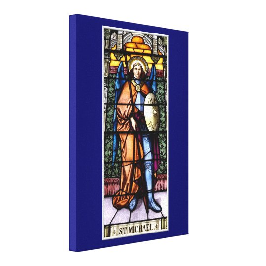 St. Michael The Archangel Stained Glass Window Canvas Print