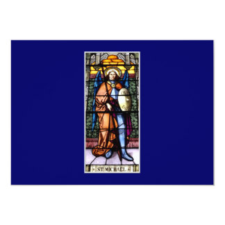 St. Michael The Archangel Stained Glass Window Card
