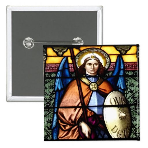 St. Michael The Archangel Stained Glass Window Pin
