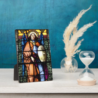 St. Michael The Archangel Stained Glass Window Plaques