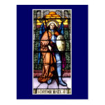 St. Michael The Archangel Stained Glass Window Post Card