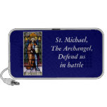 St. Michael The Archangel Stained Glass Window Notebook Speakers