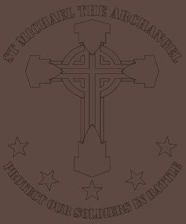 St Michael The Archangel - White Stencil Shirts