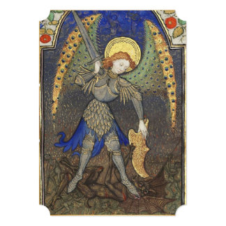 St. Michael the Archangel with Devil Prayer Card