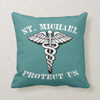 St. Michael Under Body Armor Throw Pillow
