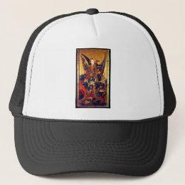 St. Michael Vanquishing Devil as Medieval Knight Trucker Hat