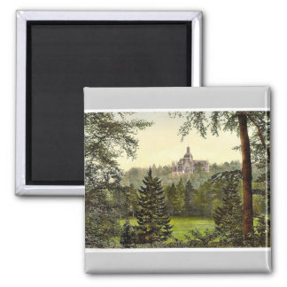 St. Michael's Abbey, Farnborough, England rare Pho 2 Inch Square Magnet