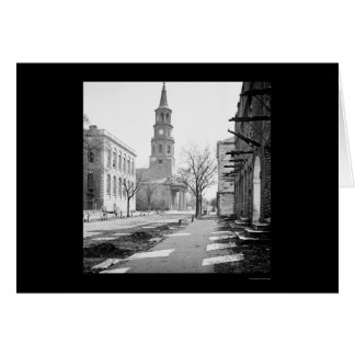 St. Michael's Church in Charleston, SC 1865 Card