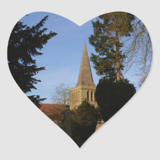 St Michaels Church Stoke Prior Heart Sticker
