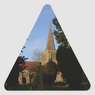 St Michaels Church Stoke Prior Triangle Sticker