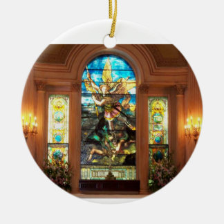St. Michael's Double-Sided Ceramic Round Christmas Ornament