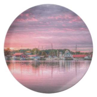 St. Michaels Harbor Melamine Plate