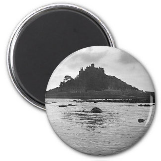 St. Michaels Mount 2 Inch Round Magnet