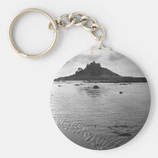 St. Michaels Mount Basic Round Button Keychain