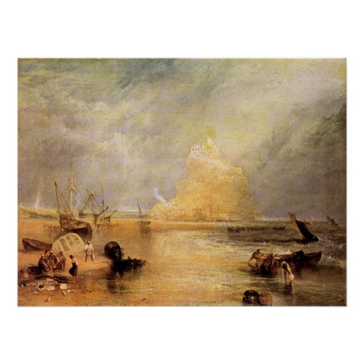 St. Michaels Mount, Cornwall by Joseph Turner Poster