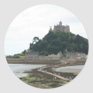 ST MICHAELS MOUNT CORNWALL CLASSIC ROUND STICKER