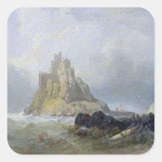 St. Michael's Mount, Cornwall Square Sticker