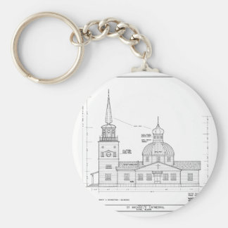 St. Michael's - South Elevation Keychain