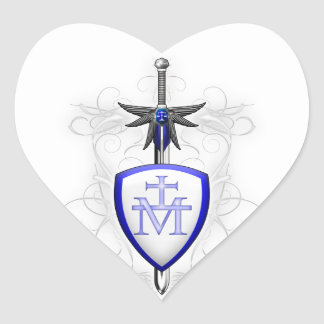 St. Michael's Sword Heart Sticker