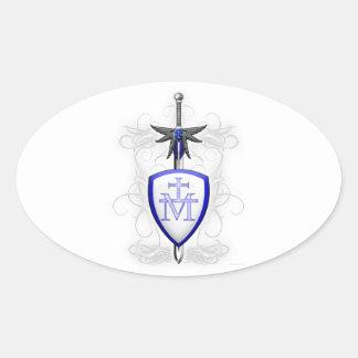 St. Michael's Sword Oval Sticker