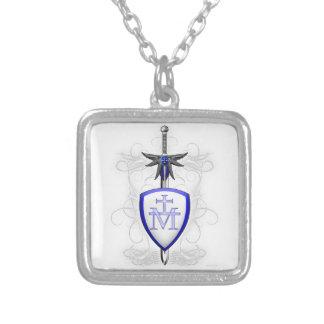 St. Michael's Sword Square Pendant Necklace