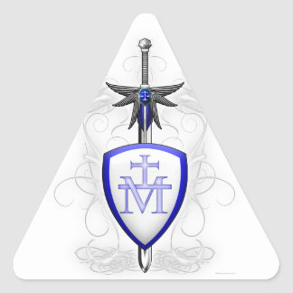 St. Michael's Sword Triangle Sticker