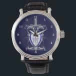 "St. Michael&#39;s Sword Wrist Watch<br><div class=""desc"">St. Michael&#39;s sword and Marian symbol shield</div>"