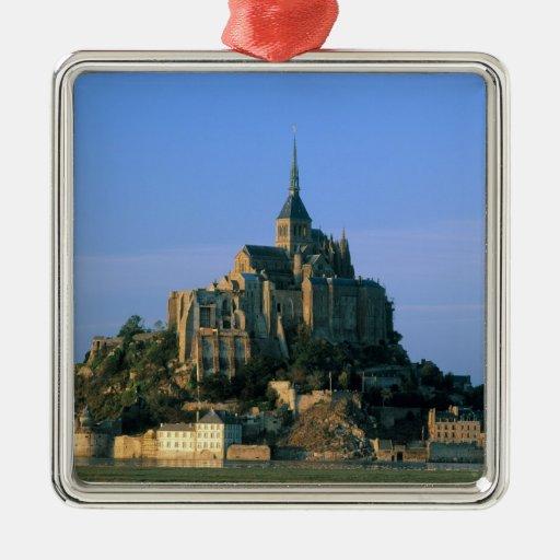 St Miguel, la Mancha, Normandía, Francia de Mont Adorno Cuadrado Plateado
