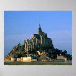 St Miguel, la Mancha, Normandía, Francia de Mont Póster