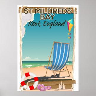 St Mildreds Bay Kent England travel poster