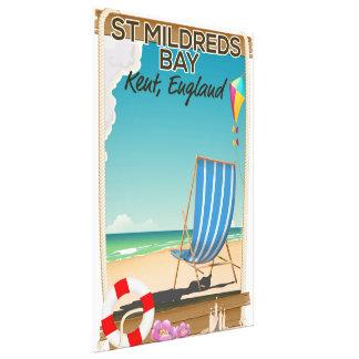 St Mildreds Bay Kent England travel poster Canvas Print