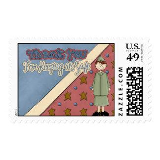 St militar del franqueo del chica del Guardia Sellos Postales