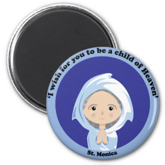St. Monica 2 Inch Round Magnet