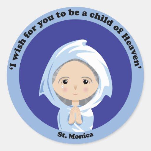 St. Monica Classic Round Sticker