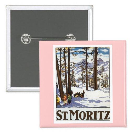 St.Moritz 2 Inch Square Button