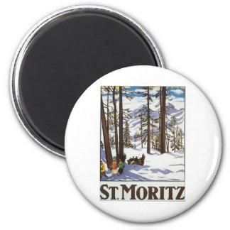 St Moritz Refrigerator Magnet
