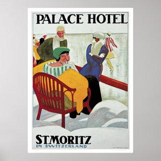 St.Moritz Switzerland Vintage Travel Posters