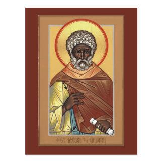 St. Moses la tarjeta etíope del rezo Postales
