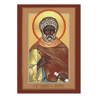 St. Moses the Ethiopian Mini Prayer Card Large Business Card