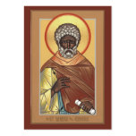 St. Moses the Ethiopian Mini Prayer Card Large Business Cards (Pack Of 100)