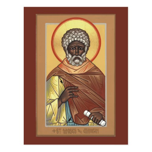 St Moses the Ethiopian Prayer Card
