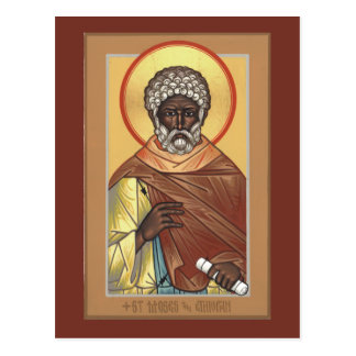 St. Moses the Ethiopian Prayer Card Postcard