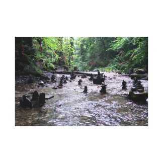 St Nectan's Glen Cornwall Photograph Gallery Wrapped Canvas