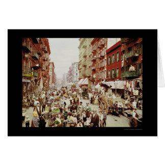 St. New York City 1900 de la mora del mercado Tarjeta De Felicitación