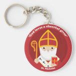 St. Nicholas Basic Round Button Keychain