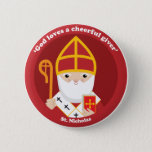 """St. Nicholas Button<br><div class=""""desc"""">A cute and happy St. Nicholas icon to bring love,  joy and hope to your loved ones and yourself.</div>"""